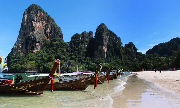 Как уехать из Ао Наммао на Рейли Бич или пляж Прананг. Сколько стоит лодка из Ао Наммао и из Ао Нанга - цены на морские экскурсии в Краби.