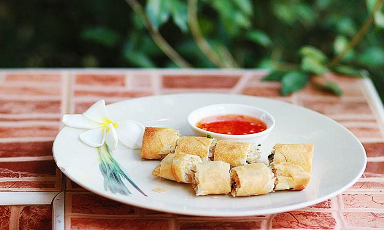 Пошаговый рецепт тайских блинчиков Spring Rolls с фото.