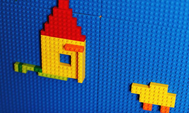 Лего игры - как сделать мозайку из обычного Lego. 3д картинки из Лего.
