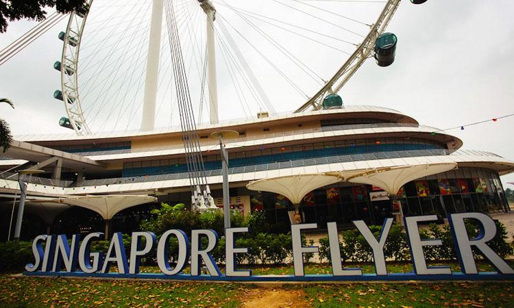 Самое большое колесо обозрения Сингапур. Singapore Flyer - Сингапур Флайер.