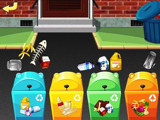 Раздельный сбор мусора в играх