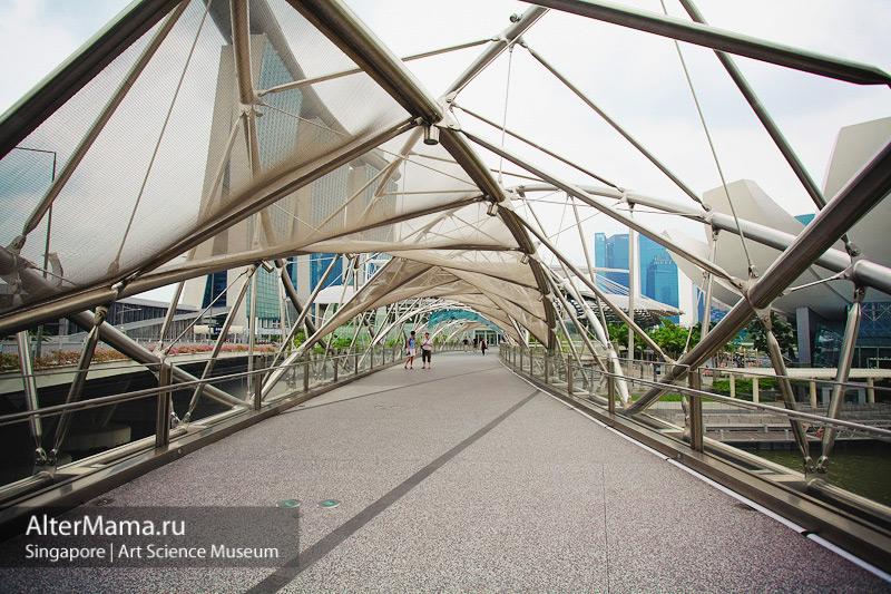 Музей искусства и науки Сингапур. Мост Спираль ДНК