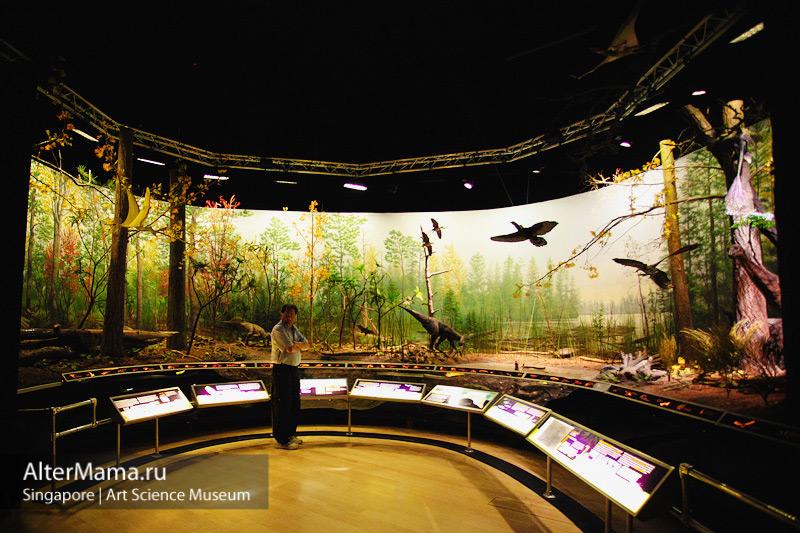 Музей искусства и науки Сингапур - выставочные залы