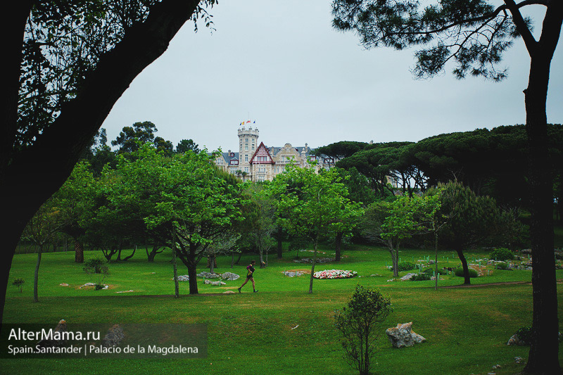 Игра в поло возле испанского королевского дворца в Кантабрии