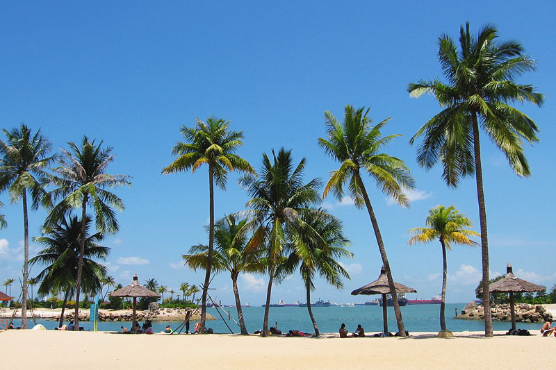 Остров Сентоза пляжи Силосо бич