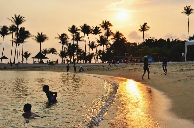 Остров Сентоза пляжи Танджонг