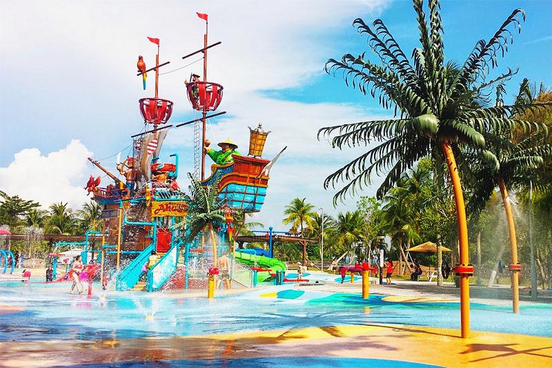 Остров Сентоза пляжный отдых детский аквапарк Port of Lost Wonder