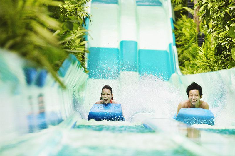 Развлечения Сентозы аквапарк Adventure Cove Waterpark часы посещения