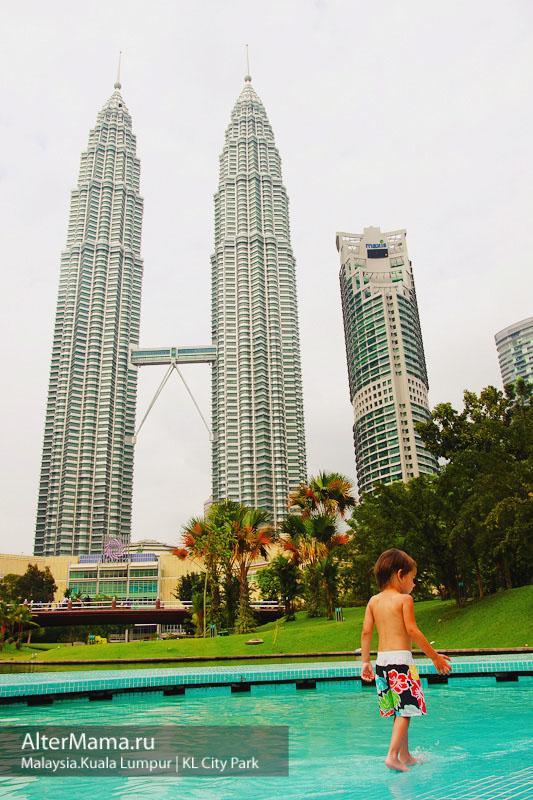 Городской парк Куала Лумпур с бассейнами
