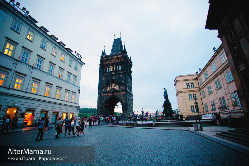 Карлов мост Прага на карте