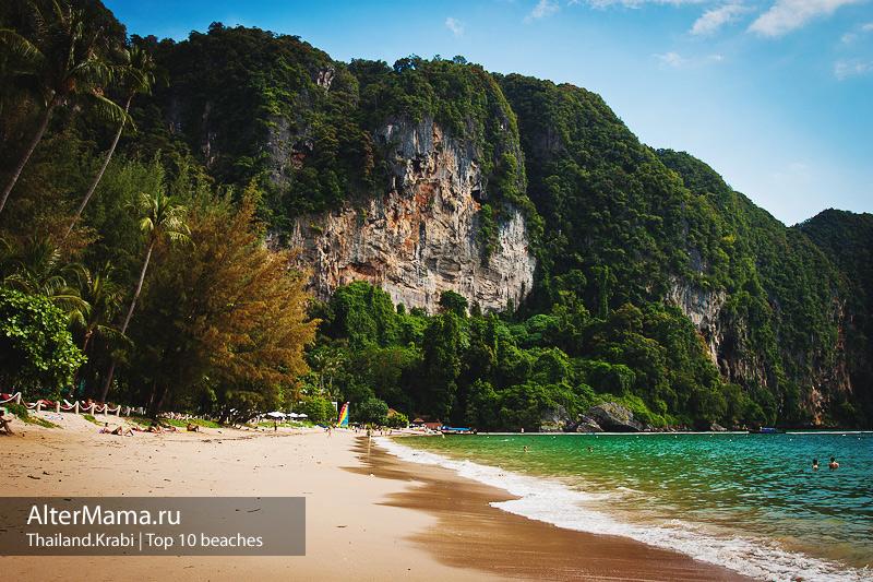 Пляжи Краби на карте Тайланд