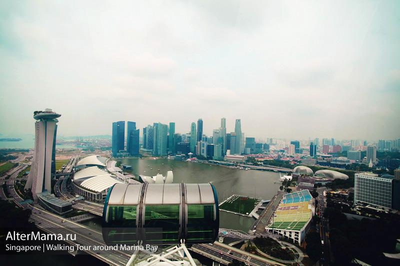 Самое большое колесо обозрения в Сингапуре
