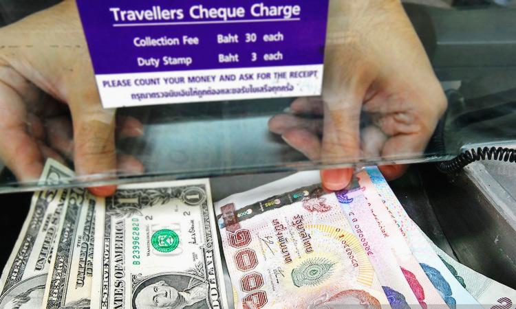 Выгодный обменник в аэропорту Бангкока.