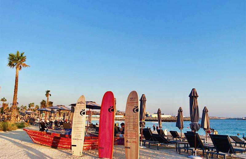 Бесплатные пляжи Дубая на карте