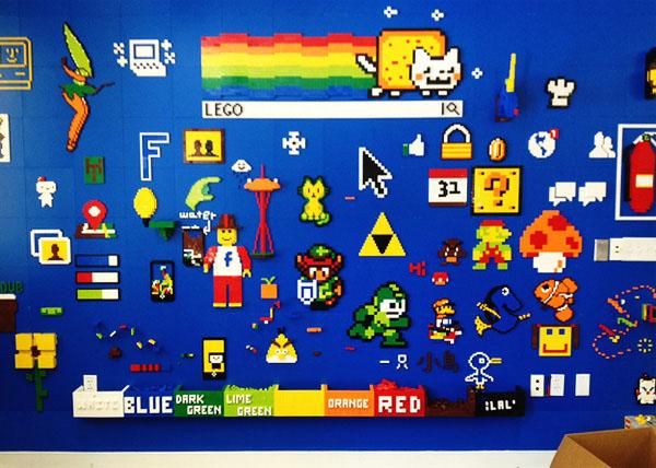 Лего игры на специальной стене