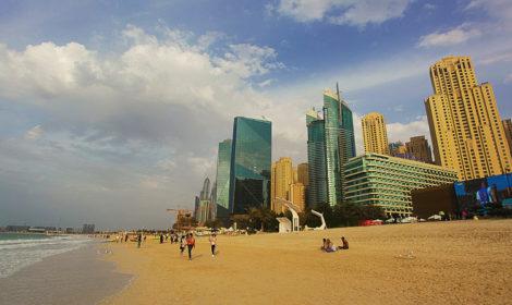 Пляж Дубай Марина на карте