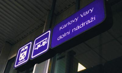 Автовокзал Карловы Вары на карте города