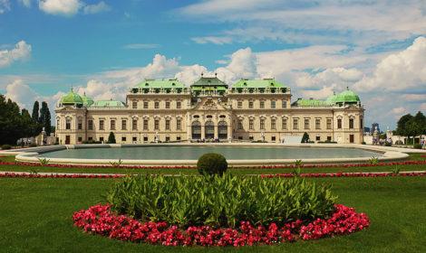 Схема дворца Бельведер в Вене.
