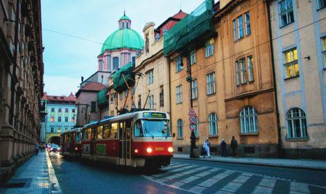 Движение трамваев в Праге, карта и проезд
