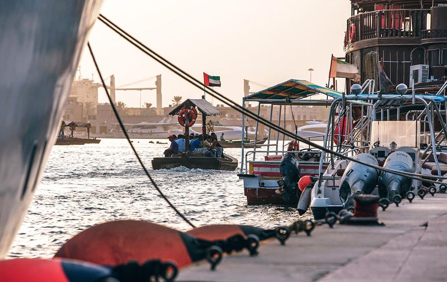 Рыбный рынок в Дубае на карте